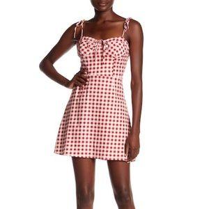 NWT Wayf Gingham Dress
